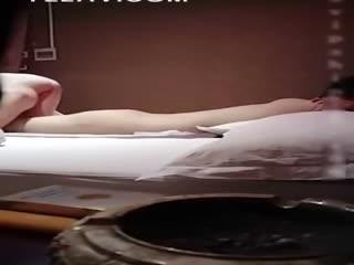 【国产嫖娼】眼镜男主播小磊哥spa会所嫖妓和女技师玩六九毒龙钻