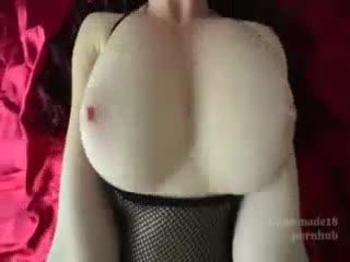 [黑丝]第一称角看操b 黑丝巨乳肥臀 这个角度做爱真刺激