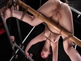 重口味麻绳捆绑性爱之人体固定电动按摩棒调教皆瀬杏树