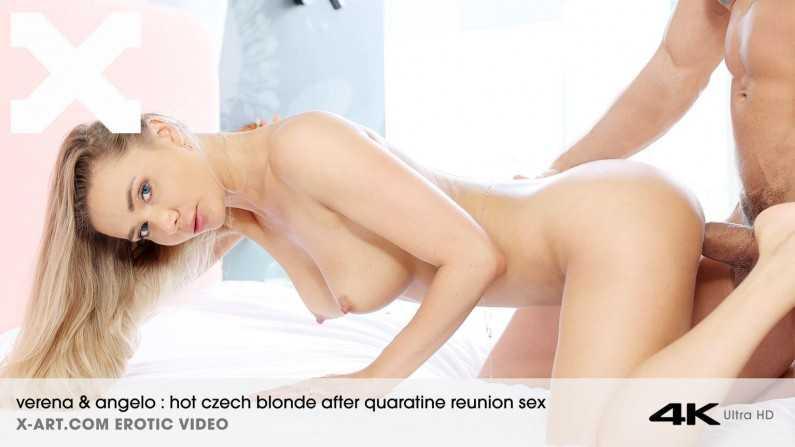 X-Art Verena Hot Czech Blonde After Quarantine Reunion Sex