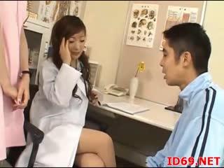 男子检查口腔的时候一直不停的偷看女医生的身体 后来穿隐身衣过来强行干他俩