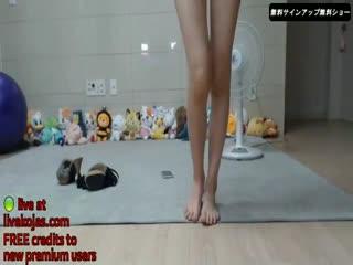 Korean BJ teen masturbates with friend
