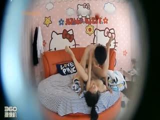 【国产】hello kitty主题房偷拍年轻貌美的长腿大胸小美女被猥琐男用尽全力各种动作狠狠的爆操...