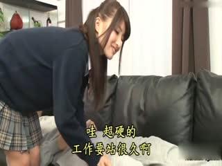 [中文]對女兒按摩肩膀而不由得的勃起!